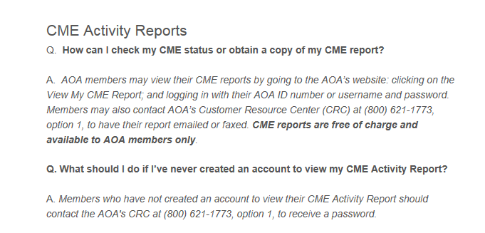 How To Cme Activity Reports